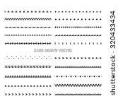 hand drawn geometric brushes....   Shutterstock .eps vector #320433434