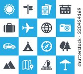 tour icon set | Shutterstock .eps vector #320434169