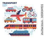 transport  flat design ... | Shutterstock .eps vector #320434931