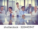 business people meeting... | Shutterstock . vector #320445947