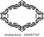 nice vintage frame with black... | Shutterstock .eps vector #320457767