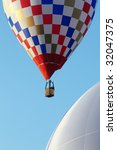 hot air balloon moving up. copy ...