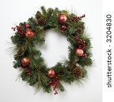 still life of christmas wreath. | Shutterstock . vector #3204830