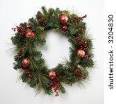 still life of christmas wreath. | Shutterstock . vector #3204830