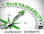 green arrow of a compass...   Shutterstock . vector #320486975