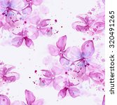 delicate blooming lilacs with... | Shutterstock . vector #320491265