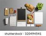 coffee stationery  branding... | Shutterstock . vector #320494541