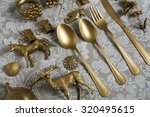 Gold Cutlery And Decorative...