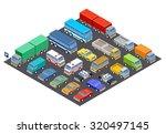 parking. raster illustration | Shutterstock . vector #320497145