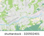 vector map of the city of... | Shutterstock .eps vector #320502401