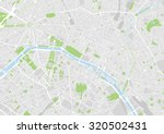 vector map of the city of paris | Shutterstock .eps vector #320502431