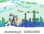 oil refinery | Shutterstock .eps vector #320522405