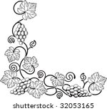 a grape vine corner background... | Shutterstock . vector #32053165