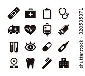 black and white simple medical... | Shutterstock .eps vector #320535371
