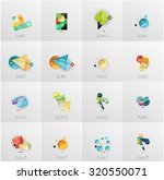 set of abstract geometric... | Shutterstock . vector #320550071