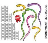 snake and ladder set. a set of... | Shutterstock .eps vector #320552051