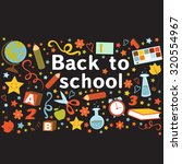 back to school colorful... | Shutterstock .eps vector #320554967