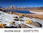 miscanti lagoon  atacama desert ... | Shutterstock . vector #320571791