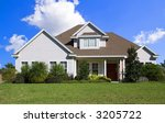 rural home on a sunny day in... | Shutterstock . vector #3205722