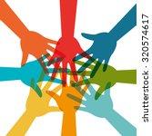 community and social design ... | Shutterstock .eps vector #320574617