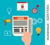 blog and blogger social media... | Shutterstock .eps vector #320575301