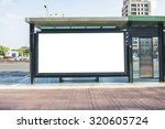 blank billboard on the city... | Shutterstock . vector #320605724