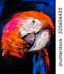 original pastel painting on... | Shutterstock . vector #320606435