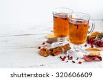 Autumn Hot Tea With Spices In...