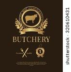 set of butchery logos  beef ... | Shutterstock .eps vector #320610431