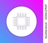 flat design icon   processor