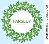 parsley wreath | Shutterstock .eps vector #320630735