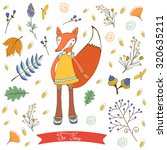 so foxy elegant concept card... | Shutterstock .eps vector #320635211