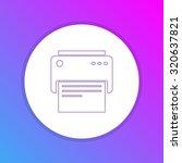 flat design icon   printer