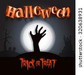 halloween background with... | Shutterstock .eps vector #320638931