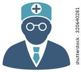head physician glyph icon.... | Shutterstock . vector #320640281