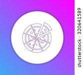 flat design icon   pizza