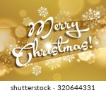 merry christmas card with white ... | Shutterstock . vector #320644331