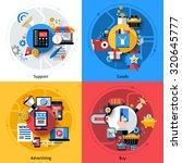 e commerce design concept set... | Shutterstock . vector #320645777