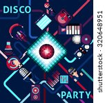 disco party background with... | Shutterstock . vector #320648951