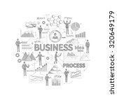 business process concept with... | Shutterstock . vector #320649179