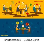 people in restaurant horizontal ... | Shutterstock . vector #320652545
