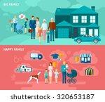 family horizontal banner set... | Shutterstock . vector #320653187