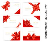 gift paper cards set with red... | Shutterstock . vector #320653799