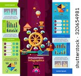 amusement park infographics set ... | Shutterstock . vector #320654981