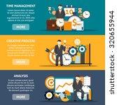 time management horizontal... | Shutterstock . vector #320655944
