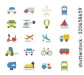 transportation flat icons color | Shutterstock .eps vector #320658659