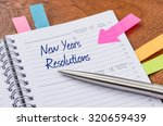 daily planner with the entry... | Shutterstock . vector #320659439