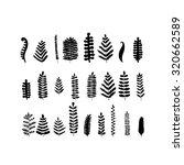 leaf set  sketch for your... | Shutterstock .eps vector #320662589
