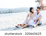 romantic young couple in love... | Shutterstock . vector #320665625
