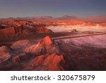moon valley  atacama desert ... | Shutterstock . vector #320675879